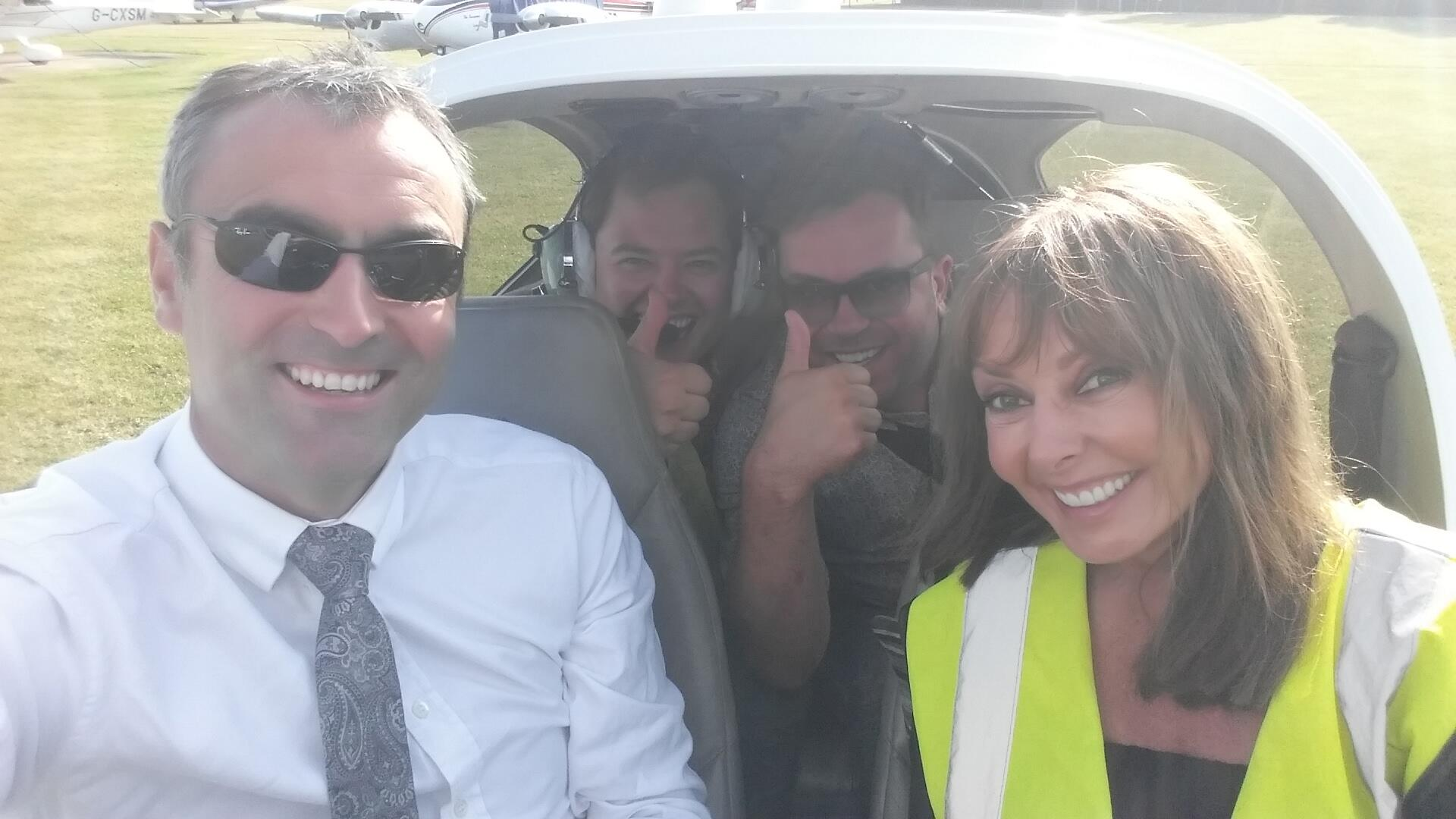 Flying into @airtattoo this morning.... Buddies in the back @alancarr... Wahoo  x http://t.co/fQZVO4QIVG
