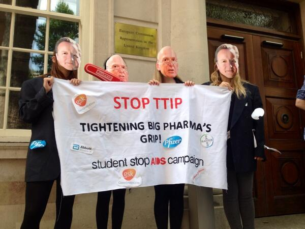 #NoTTIP Event here today at Smith Square. http://t.co/V8q3cJquI2