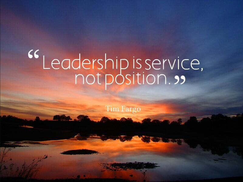 Twitter / JoyAndLife: Leadership is service, not ...