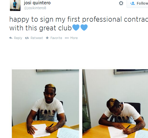Chelsea sign 17 year old winger Josi Quintero from Barcelona