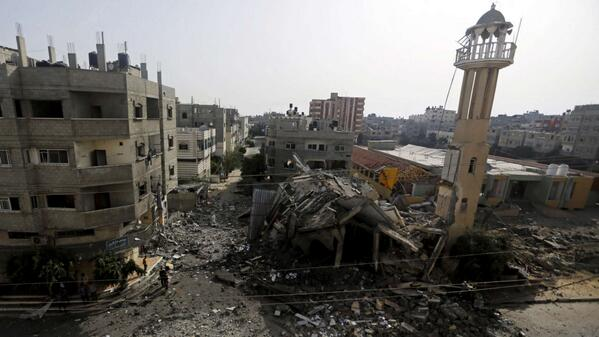 "Terrorists.. ""@mashable: Israel airstrike hits mosque in operation targeting Hamas, Gaza death toll tops 120. http://t.co/xQTPTQu7kl"""