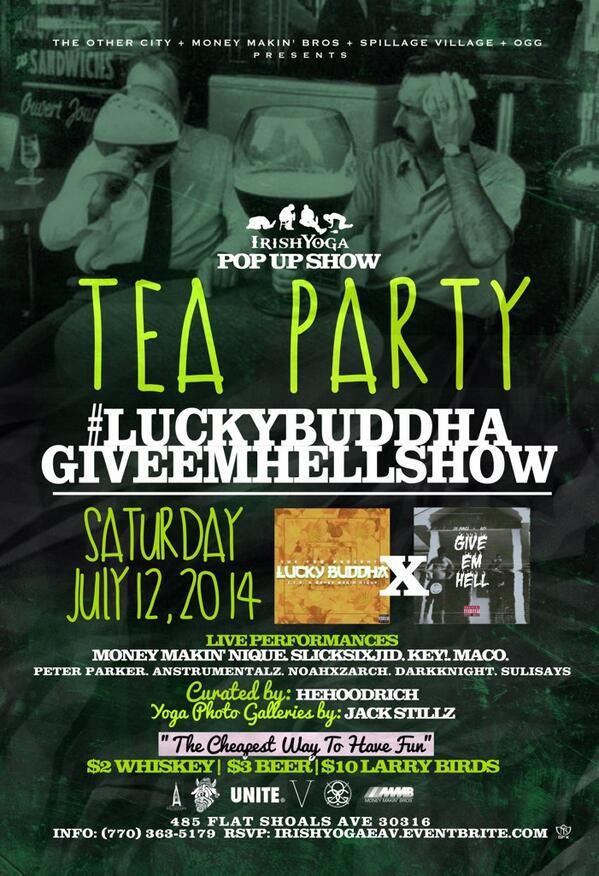 Tea Party Tonight @unioneav http://t.co/dQXpILMZFj