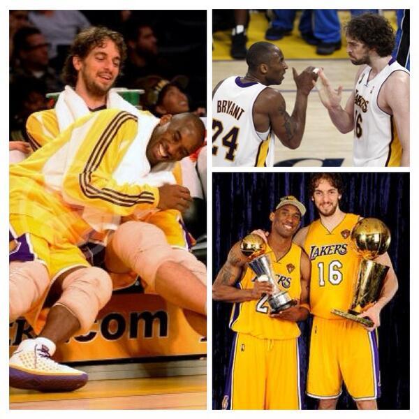 7 years, 2 rings #Lakers #ThankYouPau