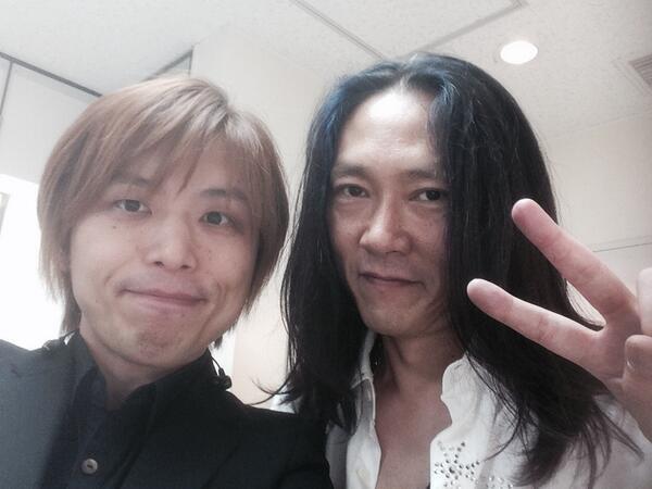 終わりましたー。 お初の長谷川さんとツーショット!! 凄く楽しかったです!! 8/1、僕らの音楽お楽しみに!! http://t.co/5RqNbDpcR5