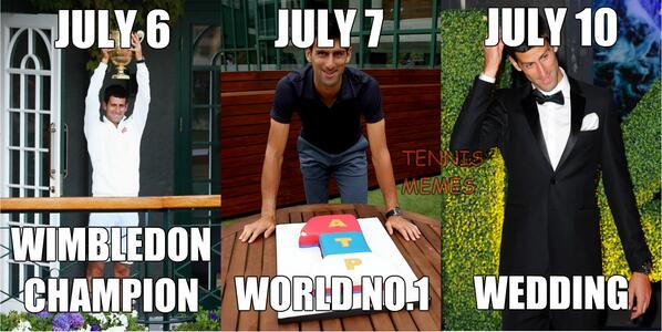 Tennis Memes On Twitter What More Can Novak Djokovic Ask For Lucky Week Tennismemes Djokernole Http T Co Ssjs1tw6fx