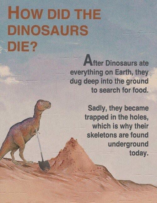 How did the dinosaurs die? http://t.co/1ROJWtglKQ