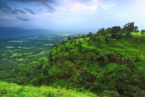 Sahyadris in Maharashtra take on a strange fluorescent green I've seen nowhere else so far in the #monsoons http://t.co/RIE8Y9XXlo