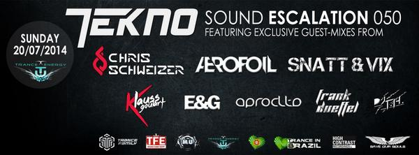 Tune in 2day at http://t.co/kGe9ERjCTy 4 a very special episode of @dj_tekno Sound Escalation, with many guestmixes! http://t.co/kzMILZsXKS
