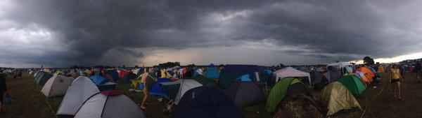 Latvia's monsoon season downpour has freshened up #Positivus for the final day. We survived. Onwards! http://t.co/y5CW0NiAbE