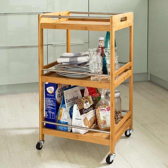 Estante armario mesa auxiliar carro de cocina ba o - Carrito auxiliar bano ...