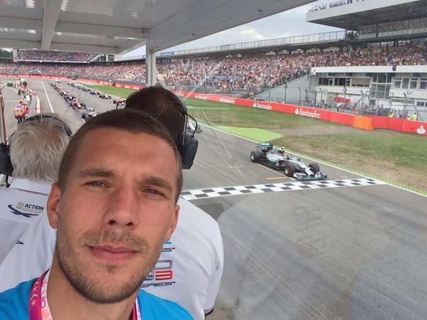 Homerun for @nico_rosberg ! It was a nice day, had a lot of fun in Hockenheim! #Poldi #aha #formula1