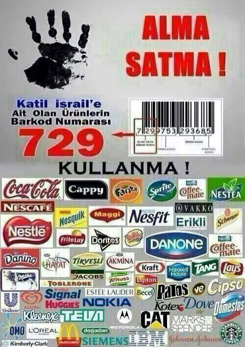 israil mallari boykot listesi http://t.co/JjBzQFAi3Z