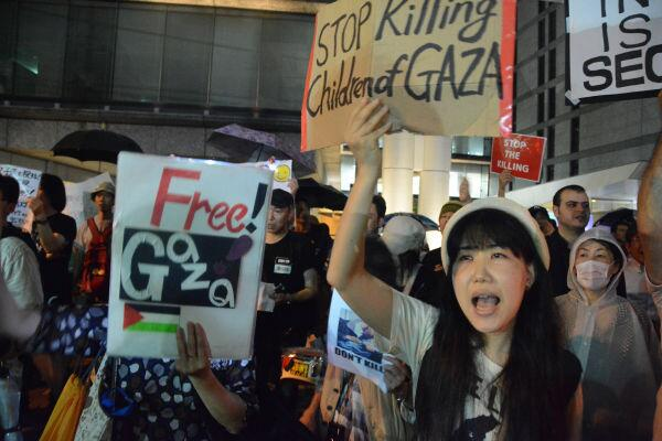 In solidarity with #GazaUnderAttack from #Tokyo , #JAPAN via @shimanamis http://t.co/5azlOOKwfD
