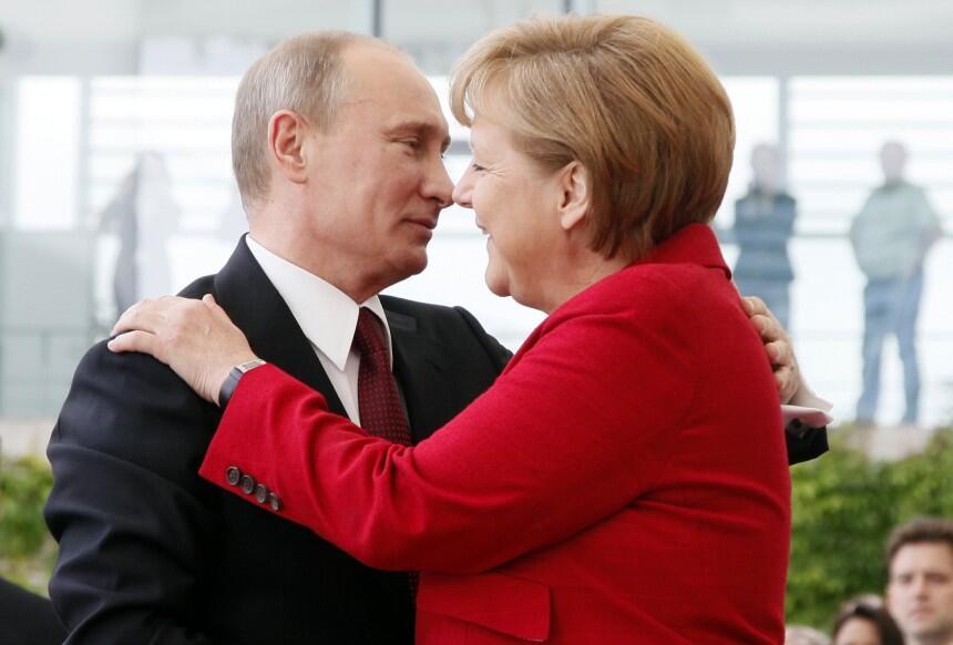 Angela Merkel Putin
