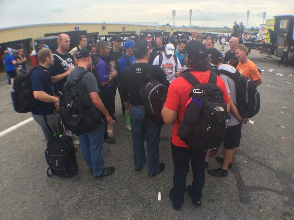 Twitter / JoeGibbsRacing: Impromptu post-race meeting ...