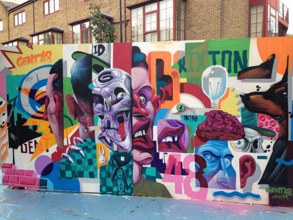 Monster piece from #Gent48 at @UrbanArtBrixton, via @ukstreetart. http://t.co/sIYXuxbJmN
