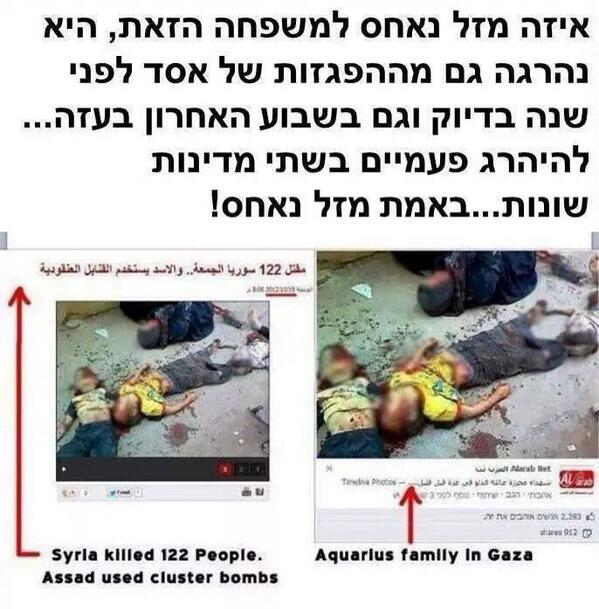 Cynical #Hamas propaganda: photo of family brutally killed by Assad troops in Syria, published now as Israeli victim http://t.co/uabrKQgBfP