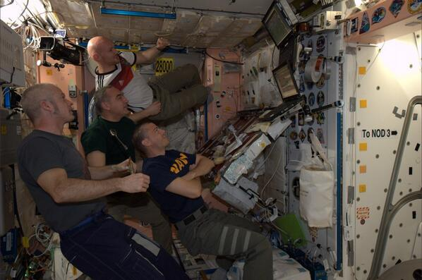Watching #WorldCup finals with @astro_alex and our #Exp40 crew. Great game so far! http://t.co/gBgRin573m
