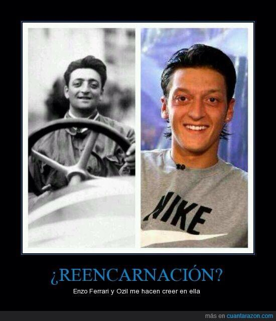 Ash Pearce On Twitter Enzo Ferrari And Mesut Ozil The Similarity