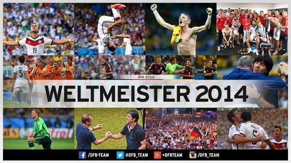 Geschafft. Das Spiel ist aus und Deutschland Weltmeister! 1:0 nach Verlängerung! http://t.co/X8XC9RwAbM