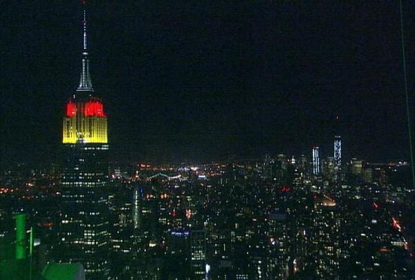 Congratulations, #GER! Tonight, we'll glow gold, red & black to honor their #WorldCup win. Photo by @ABC. http://t.co/5M4bQDNM0y