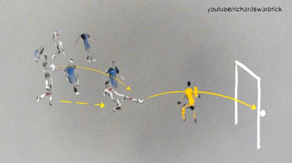 Illustration: Mario Götze's winning goal. http://t.co/HU5YANQnLV