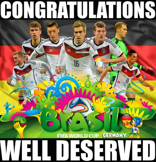 "Soccer Memes On Twitter: ""Congratulations To #Germany For"