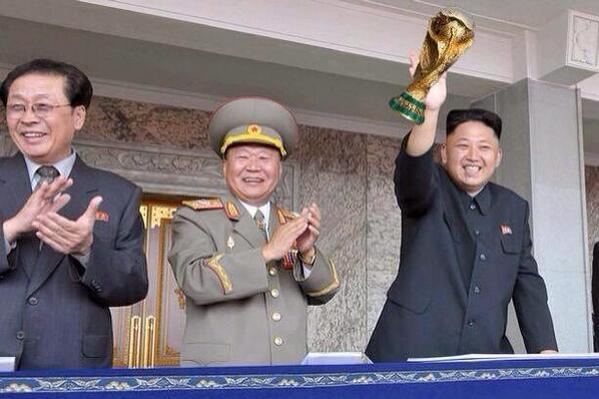 Congratulations to North Korea on winning their 10th World Cup, and to Kim Jong-un for scoring all 92 goals!! http://t.co/UL71jkFHT1