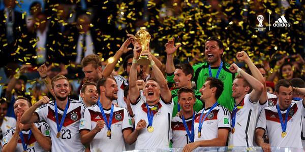 Patrocinadores de Alemania no festejan la Copa del Mundo (en Twitter)