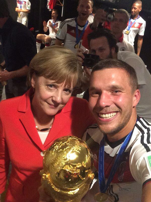 """@Podolski10: #Selfie 2…:-) http://t.co/gBbBFix5wE"" #GER #Marketing #WM14 #WM2014 #WorldCupFinal  #WorldCup2014 #Fanline #SocialMedia"