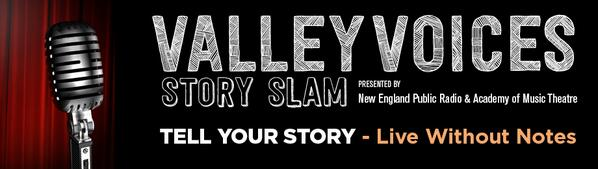 ValleyVoices StorySlam is accepting submissions thru 7/31! 10 will be selected! Share yours! http://t.co/ydZ3MiefIt http://t.co/pXNGw2buCG