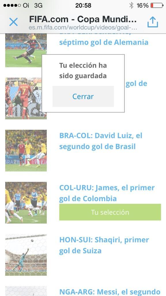 Ya voté por el golazo de @jamesdrodriguez y uds? http://t.co/bJml6EJffG RT que ese premio es de nuestro 10 http://t.co/70xy3Y87eZ