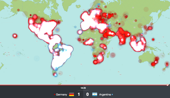 World Cup maps from Twitter Data on Twitter