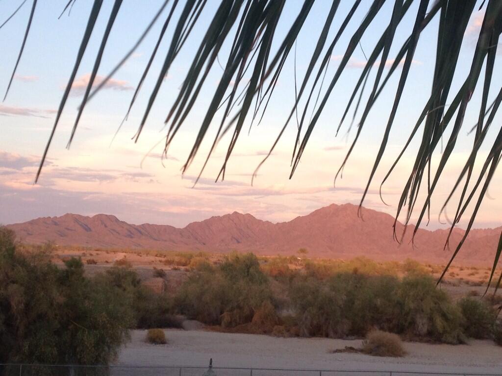 Twitter / alizasherman: Back yard view. #yuma ...