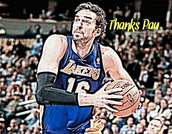 Hope Pau has a great season with the Bulls! #ThankYouPau #GoLakers @paugasol
