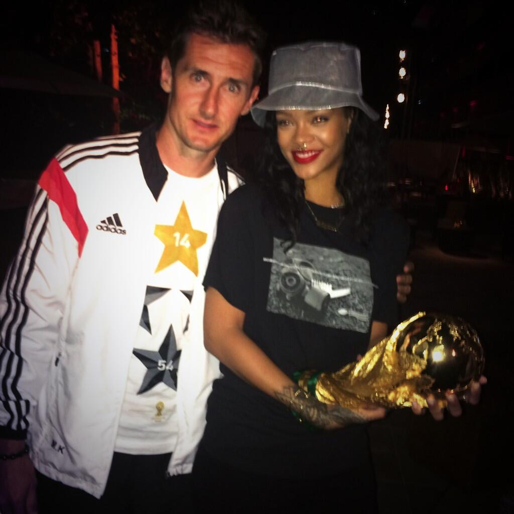 Germany spent the night partying with Rihanna after winning the World Cup [Pictures]