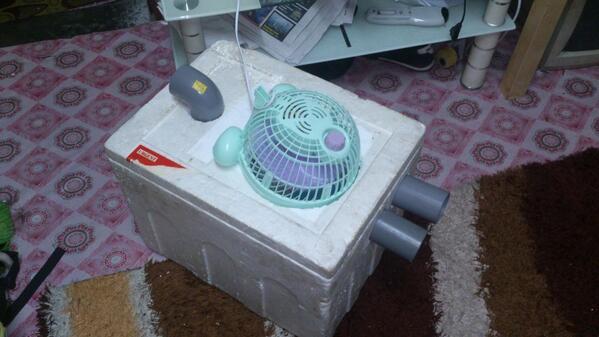 Malik Perang On Twitter At Last Hahaha My Diy Air Conditioner Guna Barang Terpakai Je Really Http T Co Zevs7xi4ep