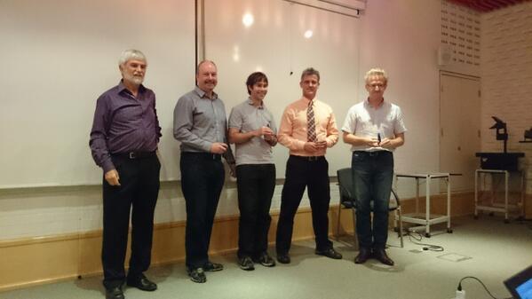 Blue Obelisk Awards handed out by Peter.