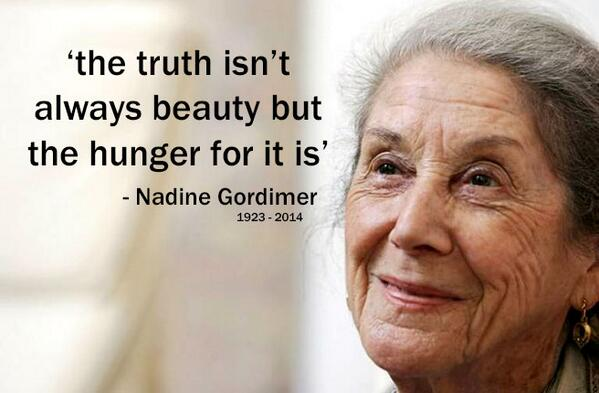 nadine gordimer is there no where else where we can meet