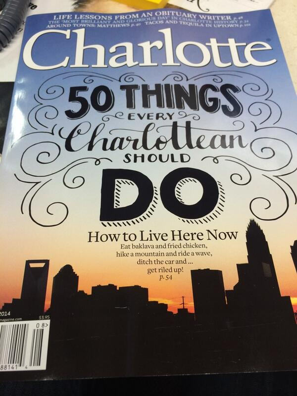 #CLT, you're going to want to read our cover package, edited by @virginiarbrown. Trust me on this. #50ThingsCLT http://t.co/slRUZyn87q