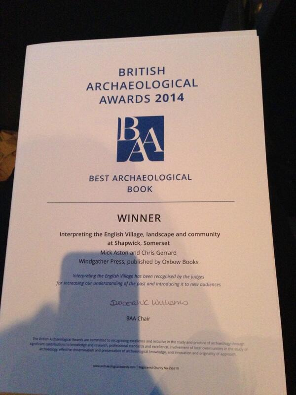 Winner of the Best Archaeological Book #baa2014 http://t.co/yqAVOzNeK9
