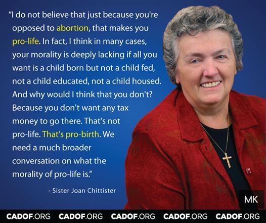 "A nun calls out the ""pro-lifers'"" hypocrisy! http://t.co/sTXvq8OvZB"