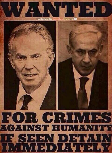 Two #WarCriminals wanted for crimes against humanity..   #BBCTruth4Gaza  #GazaUnderAttack  #BDS http://t.co/MpWlfEN3yI
