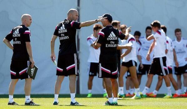 Première séance d'entraînement pour Zidane
