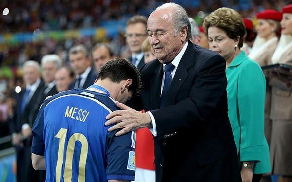 FIFA President Sepp Blatter surprised that Lionel Messi won the World Cup Golden Ball [Video]
