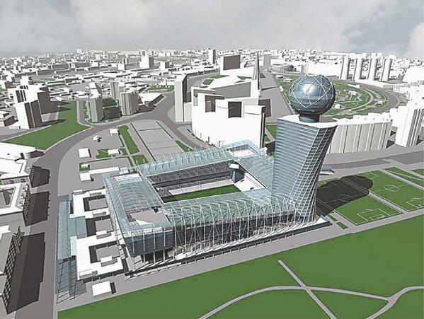 CSKA's new stadium will look something like this... http://t.co/m1EaYVZFzk