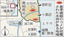 福島・南相馬産のコメからセシウム検出 原発粉じん付着かhttp://t.co/DePfIhJJhN  http://t.co/oq4B3kyNzk昨年8月19日、瓦礫撤去作業の粉塵で作業員2人が被ばく。「原発作業による飛散があるとすれば、農業だけにとどまらない問題」