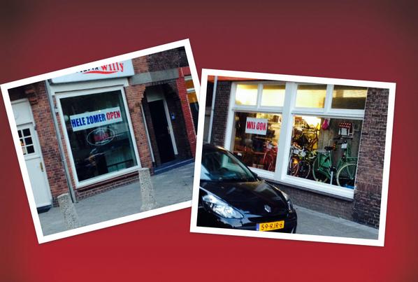 LOL!   Lokale humor #Gouda  De reactie van de fietsenmaker (en tevens buurman van) op snackbar Willy :D http://t.co/G8NhL6ROcM