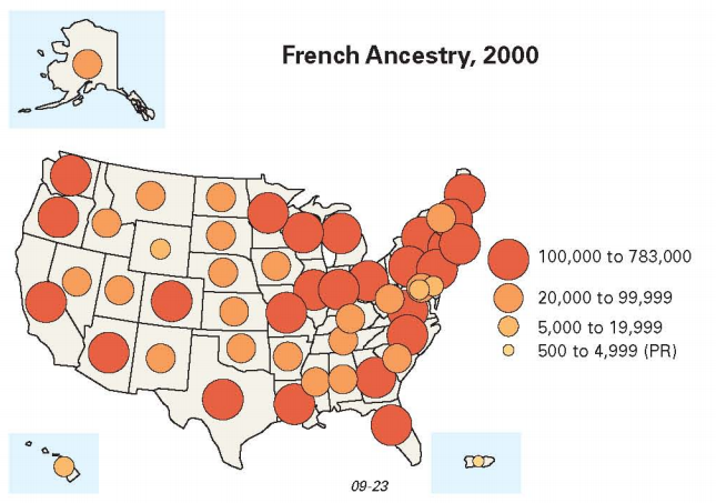 Vive La Worcester Mapping Where Americans Of French Descent Live - Us ancestries map