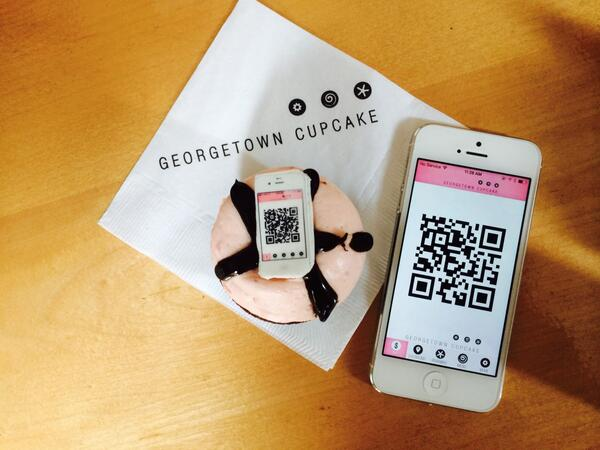 As far as promoting a mobile payment app goes, this takes the cake. Congrats to @GTownCupcake http://t.co/ZeDKCnm3oX